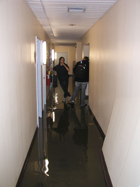 pictures from the cs department flood  may 21  2002